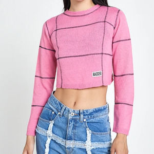 NWT  The Ragged Priest Pink Sweater Top